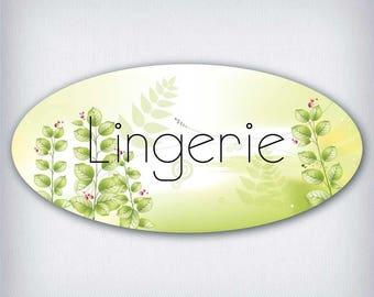 Door decal style oval lingerie 031