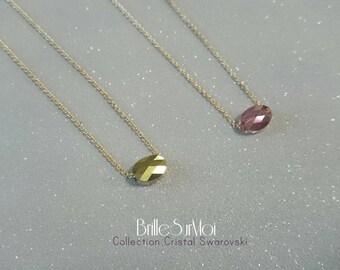FemmeGold Filled gold 14 k swarovski crystal necklace