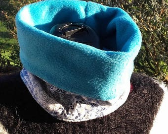 Snood blue scarf for men or women in winter