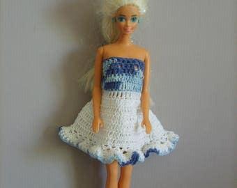Strapless dress for doll