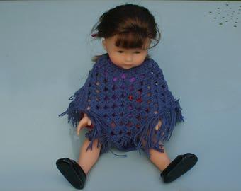 Doll 33cm doll poncho
