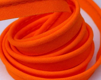 4 m of cotton piping orange bright 10mm