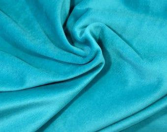 50cm of Minkee - emerald green plush fabric - wide cotton polyester 50x50cm