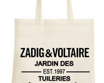 Tote bag ZADIG & VOLTAIRE cambon tuileries garden walk