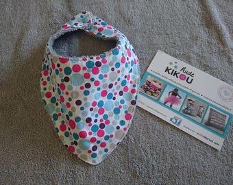 Anti bavouilles dots pattern bandana bib