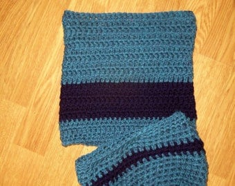 Set hat and snood for boy, blue