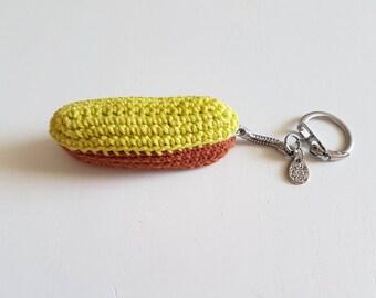 Key pin: zipper, handmade