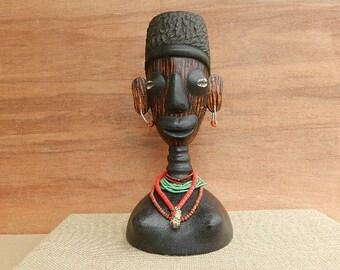 "African mask ""Large Voodoo priest"" primitive African original gift"