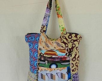Handbag Tote No. 4 fabric cotton patchwork