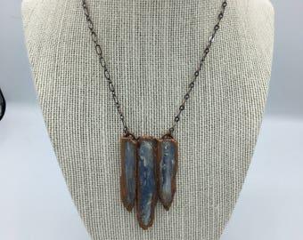 Blue Kyanite Long Boho Necklace