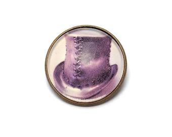 (Top hat) Steampunk brooch