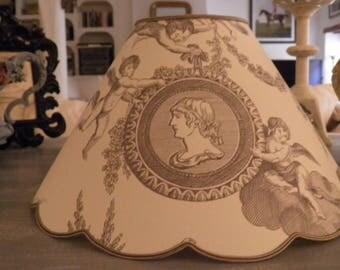 toile de jouy pattern cherubs Lampshade