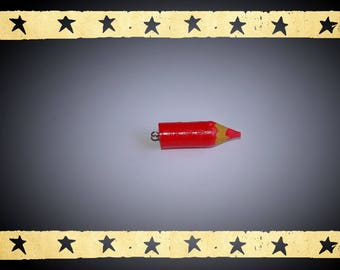 Mini polymer clay red pencil