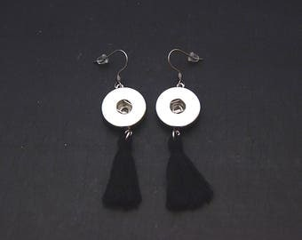 Earrings tassel stainless steel medium pressure 18-20mm Cabochon earrings