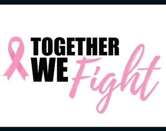 Together We Fight Cancer Postcard