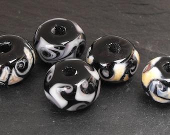 Set of PERL.1546 Murano glass beads