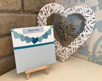 Garland Hearts Thank You Card