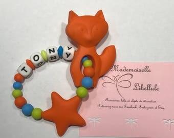 Silicone baby teething bracelet