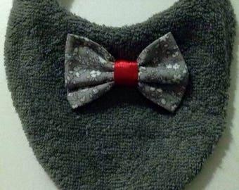 Small bib shape bandana with bow