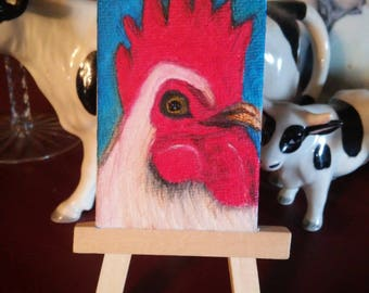 Rooster Painting Mini