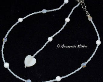 Necklace back very feminine and chic jewelry