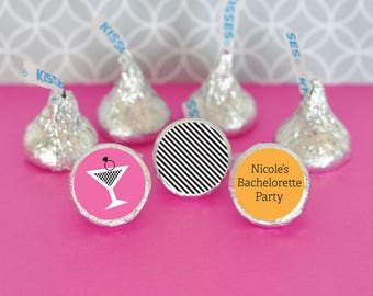 Personalize Bachelorette Hershey s Kisses Stickers (set of 216)