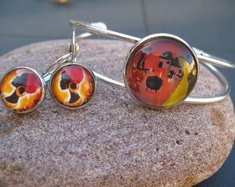 "Set bracelet and earrings ""African woman"""