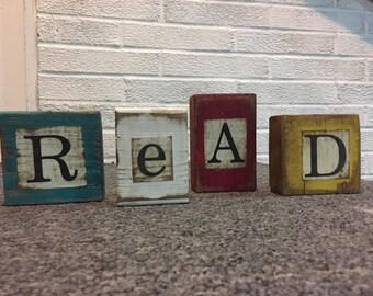 Set of letter blocks