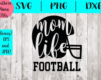 Football Svg FIles, Png, Dxf Cutting Files For Silhouette Cameo, Cricut Design Space- Football Mom Svg Files-Cute Svg Files-Quarterback