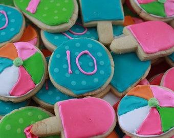 Summer Cookies, Decorated Cookies