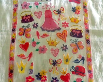 Print of Princess embossed stickers