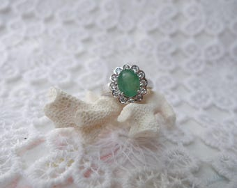 Ring Emerald and silver ZOMOROD T55