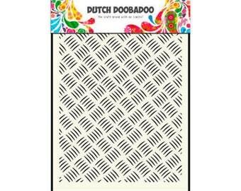 Stenciled Dutch Doobadoo Mask Metall - A5 New Stencil Art