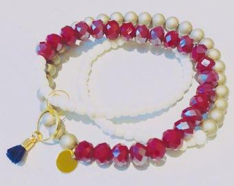 Glass beaded Bracelet Multi-row