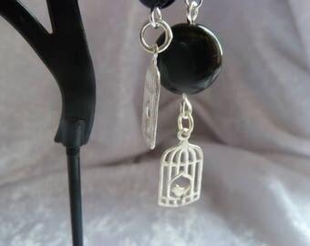 Genuine Obsidian GEMSTONES earrings