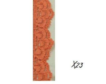 Lace elastic orange color