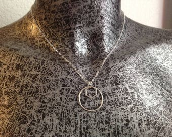 Necklace 925 sterling silver Hexagon ring