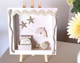 Wood frame sea decoration