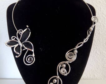 Silver Aluminum necklace