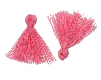 Set of 3 charms TASSELS TASSELS pink 25 mm - creating jewelry beads