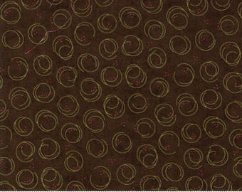 Holly Taylor - Forever Green - Brown Circle Print - 6695-19