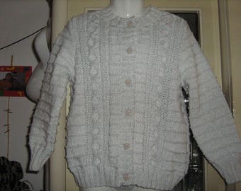 New hand knitted silver girl Cardigan