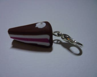 Pendant is from polymer clay cake