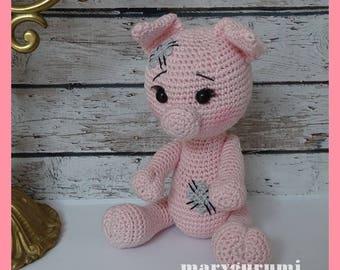 Pig, crochet, Amigurumi plush
