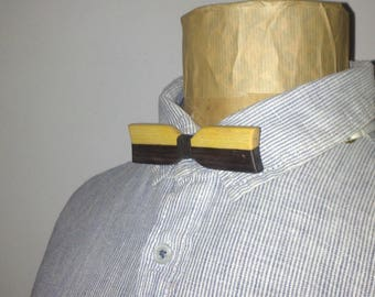 Reversible bow tie Mozambique EBONY wood