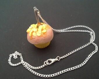 cupcake fimo lemon coctail chain