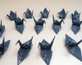 Set of origami cranes: Moon Light Collection
