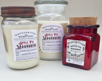 APPLE PIE MOONSHINE - 100% soy candles, 3 sizes available