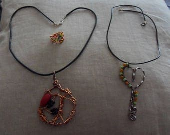 Pendant beads copper wire all colors
