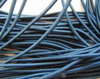 Elastic in hat, dark blue, diameter 2.5 mm (E-09)